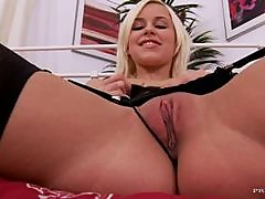 Horny Blonde Maid Masturbating With Dildo When The Bosses Arent Home