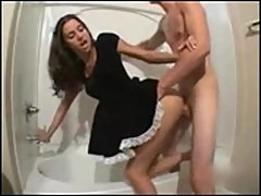 Teen Maid Getting Nailed In Bathroom