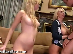 A Blonde Teenager Bending For A Fuck