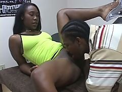 Ebony Teen Shaves Her Pussy For a Monster Cock