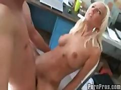 Young Blonde, Gets Studies Interrupted By Boyfriend For A Fucking