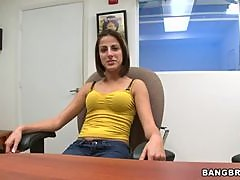 Hot Teen Sucks Cock at a Porn Movie Audition