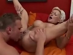 Getting frisky with a naughty blonde mature