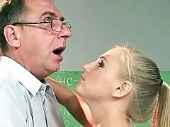 Teen fucking her old teacher