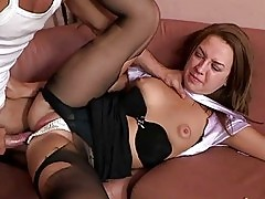 Teen girl is banged well