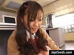 Sexy Asian Schoolgirl Gives The Teacher A Sneak Peek Of Her Twat