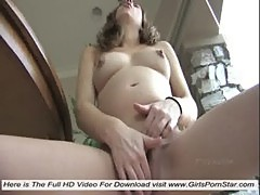 A pregnant young naked masturbating