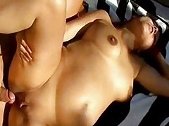 Redhead pregnant bitch with huge belly fucks young horny nei