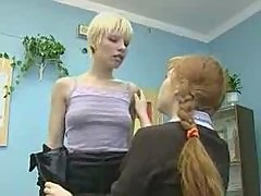 Russian girl and lesbian teacher