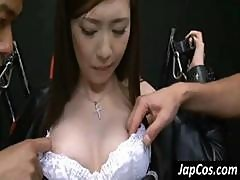 Young Japanese Slutty Babe Gets A Good Groping From Some Men