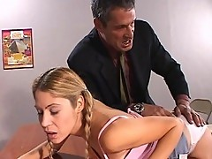 Kara Novak spanked by horny stud teacher