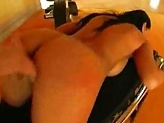 Sexy nikki rider bounces her booty on a big cock