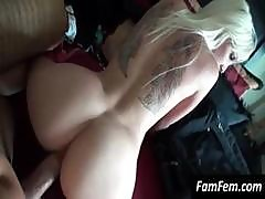 Platinum Blonde With Tattoos Loves Getting Pounded Pov Style