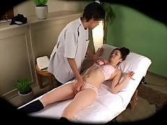 Spycam Reluctant Woman seduced by masseur