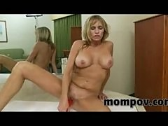 Big tits milf taking some young cock