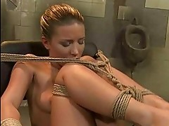 Sexy mistress dominating young slavegirl