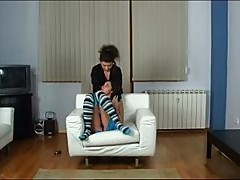 Young mistress using her lesbian lover