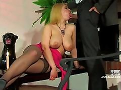 Busty Blonde Russian Babe Is Getting Her Ass Hammered Deep