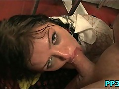 Flexible young slut getting mouth fucked