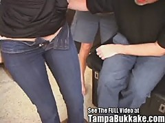 Two Girl Tampa Bukkake Sexual Tryouts! Wi ...