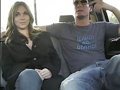Delicious Dakota Brookes sucks cock in a car before being di...