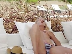 Ultra hot blonde babe masturbating