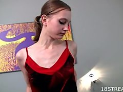 Slim Teen Fany Playing With Her Shaved Pussy In Amateur Clip