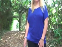 Armelle a blonde teen double penetrated