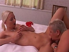 Horny bossy lesbo grandma asks maid for some sex pleasure