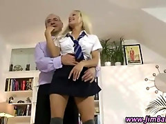 Blonde amateur stockings schoolgirl slut