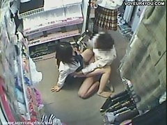 Two Hotties Asian Teen Store Fucking