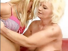 Granny and hot girl fucking