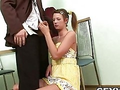 Man undresses his beautiful GF