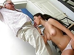 Pigtailed Coed Simona Fucked By Fat Old Man