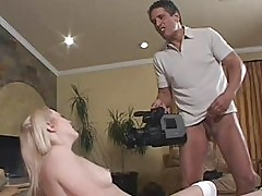 Babysitter ready to fuck old man on camera