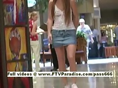 Emma independent amazing blonde babe goes into a shopping mall