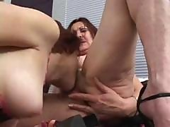 Young And Old Lesbians Get Down To Some Serious Pussy Licking