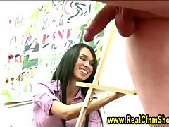 College real amateur teen gets fucked