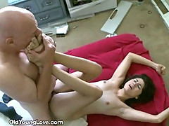 Brunette Gets Her Pussy Filled With Cock