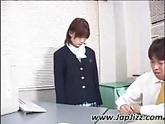 Asian Schoolgirl Showing Upskirt