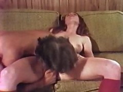 Cute young redhead in vintage oral porn