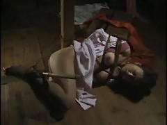 Hogtied asian