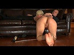 Maledom BDSM Slave Cherry Torn in Bondage