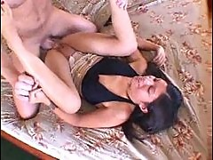 Cute girl and her thick cock lover boning