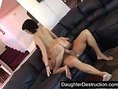 Young girl pounded hard