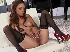 Sexy Piano Player Taylor Ashley Playing With Her Clit In Lingerie