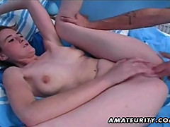 Hot blonde amateur girlfriend homemade hardcore with cum in mouth