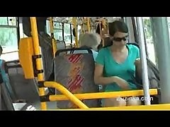 Teen masturbates on public bus