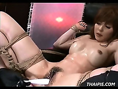 Hairy Asian Takes Extreme Dildos