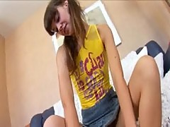 teenie Lenta loves jerking off and feet